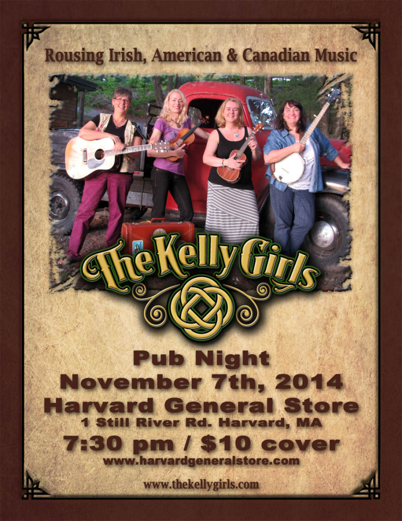 The Kelly Girls Harvard General Store Nov7-14